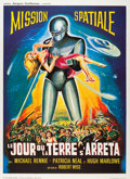 "Movie Posters:Science Fiction, The Day the Earth Stood Still (Jacque Leitienne Films, R-1960s).French Grande (47"" X 63"").. ..."