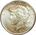 Peace Dollars: , 1927 $1 MS64 PCGS. CAC. PCGS Population (1708/294). NGC Census:(973/122). Mintage: 848,000. Numismedia Wsl. Price for prob...