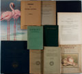 Books:Natural History Books & Prints, [Natural History and Anthropology]. Group of Eleven Books. Various publishers and editions, 1888-1972. Some are ex-library. ...