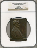 U.S. Presidents & Statesmen, Bronze Abraham Lincoln Plaque MS62 NGC....