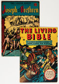 Golden Age (1938-1955):Religious, Living Bible #1 and 2 Group (Living Bible Corp., 1945) Condition:Average VG.... (Total: 2 Comic Books)