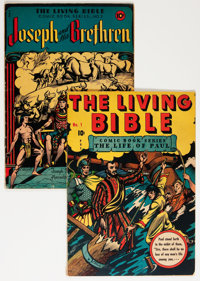 Living Bible #1 and 2 Group (Living Bible Corp., 1945) Condition: Average VG.... (Total: 2 Comic Books)