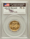 Modern Issues, 1992-W G$5 Olympic Gold Five Dollar MS69 PCGS. Ex: Signature ofJohn M. Mercanti, 12th Chief Engraver of the U.S. Mint. PCG...
