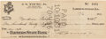 Autographs:Checks, 1931 Mordecai Brown Signed (Endorsed) Check....