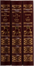 Books:Fiction, [Godfather Trilogy]. Mario Puzo. Group of Three. Easton Press.Publisher's binding. Slight scuffing on gilt otherwise near f...(Total: 3 Items)