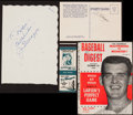 Baseball Collectibles:Others, Joe DiMaggio and Don Larsen Signed Memorabilia Lot....