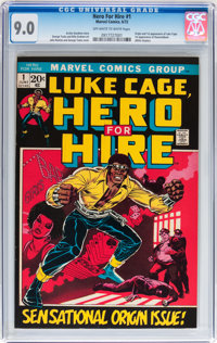 Hero for Hire #1 (Marvel, 1972) CGC VF/NM 9.0 Off-white to white pages