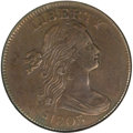 Large Cents, 1803 1C Large Date, Large Fraction AU53 NGC. S-265, B-23, R.4....