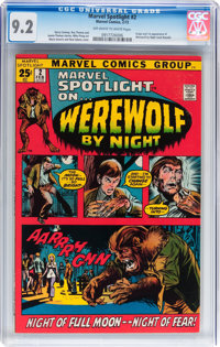 Marvel Spotlight #2 Werewolf By Night (Marvel, 1972) CGC NM- 9.2 Off-white to white pages