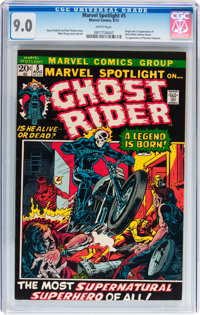 Marvel Spotlight #5 Ghost Rider (Marvel, 1972) CGC VF/NM 9.0 White pages