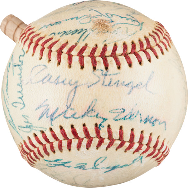 1958 American League All-Star Team Signed Baseball