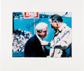 Baseball Collectibles:Photos, Ted Williams and Joe DiMaggio Signed Oversized Photographs Lot of2....