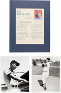 Baseball Collectibles:Photos, Ted Williams Signed Photographs, Etc. Lot of 3....