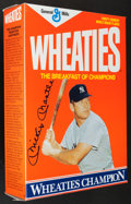 "Baseball Collectibles:Others, Mickey Mantle Signed ""Wheaties"" Box. ..."