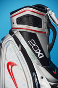 Golf Collectibles:Bags/Flagsticks/Clothing, Nike 20xi Silver Staff Golf Bag Autographed by 2013 HP Byron NelsonPlayers . Benefiting KidSwing Golf Tournaments. ...