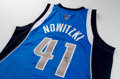 Basketball Collectibles:Uniforms, Dallas Mavericks Jersey Signed by Dirk Nowitzki. BenefitingKidSwing Golf Tournaments. ...