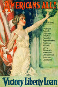 "Movie Posters:War, World War I Propaganda (Forbes, 1919). Poster (27"" X 40"")""Americans All!"". ..."