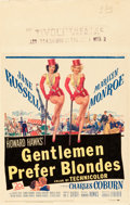 "Movie Posters:Musical, Gentlemen Prefer Blondes (20th Century Fox, 1953). Window Card (14""X 22"").. ..."