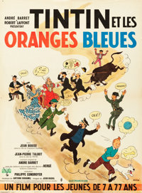"Tintin and the Blue Oranges (Pathe Consortium Cinema, 1964). French Affiche (23.5"" X 31.5"")"