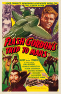 "Movie Posters:Serial, Flash Gordon's Trip to Mars (Universal International, R-1950s). OneSheet (27"" X 41"").. ..."