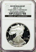 Modern Bullion Coins, 2006-W $1 20th Ann. PR70 Ultra Cameo NGC. NGC Census: (13053). PCGSPopulation (1370). Numismedia Wsl. Price for problem f...