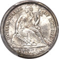 Seated Dimes, 1874 10C Arrows MS65 PCGS....