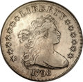 Early Dollars, 1798 $1 Large Eagle, Pointed 9, Close Date XF40 NGC. B-26, BB-114,R.5....