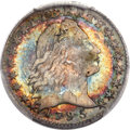 Early Half Dimes, 1795 H10C -- Damage -- PCGS Genuine. AU Details. V-4, LM-10,R.3....