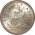 Seated Quarters, 1874-S 25C Arrows MS65 NGC....