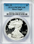 Modern Bullion Coins, 2011-W $1 Silver American Eagle PR70 Deep Cameo PCGS. PCGSPopulation (2615). NGC Census: (5855). Numismedia Wsl. Price fo...