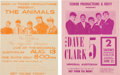 Music Memorabilia:Posters, Animals and Dave Clark 5 KROY Handbill Group (1960s).... (Total: 2Items)