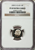 Proof Roosevelt Dimes, (2)2009-S 10C Clad PR69 Ultra Cameo NGC. NGC Census: 1347 in 69, 1986 finer (5/13).... (Total: 2 coins)