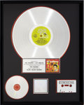 Music Memorabilia:Awards, Elvis' Golden Records RIAA Platinum Record Award (RCA 1707,1958) ...