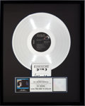 Music Memorabilia:Awards, Elvis Presley Aloha From Hawaii Via Satellite RIAA PlatinumSales Award (RCA CPL2-2642-2-C, 1973)....
