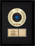 "Music Memorabilia:Awards, Elvis Presley ""You Don't Have to Say You Love Me"" Gold Sales Award(RCA 447-0678, 1970)...."