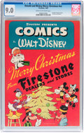 Golden Age (1938-1955):Cartoon Character, Donald and Mickey Merry Christmas #nn (K. K. Publications, Inc.,1943) CGC VF/NM 9.0 Cream to off-white pages....