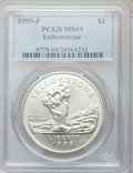 Modern Issues, 1999-P $1 Yellowstone Silver Dollar MS69 PCGS. PCGS Population(1949/256). NGC Census: (1230/449). Numismedia Wsl. Price f...