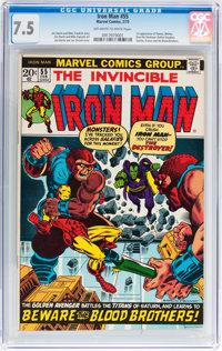 Iron Man #55 (Marvel, 1973) CGC VF- 7.5 Off-white to white pages