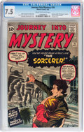 Silver Age (1956-1969):Horror, Journey Into Mystery #78 (Marvel, 1962) CGC VF- 7.5 Cream tooff-white pages....