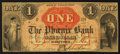 Obsoletes By State:Connecticut, Hartford, CT- The Phoenix Bank $1 May 1, 1860. ...