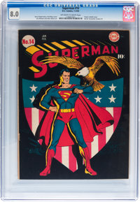 Superman #14 (DC, 1942) CGC VF 8.0 Off-white to white pages