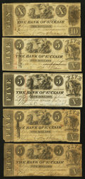 Obsoletes By State:Michigan, St. Clair, MI- The Bank of St. Clair $1; $2; $3 (2); $5 (4); $10 1837-42 G50; G52; G54 (2); G8; G56 (3); G58 Lee STC-1-9; 11... (Total: 9 notes)