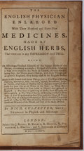 Books:Medicine, Nicholas Culpepper. The English Physician Enlarged With ThreeHundred and Sixty-Nine Medicines, Made of English Herbs...