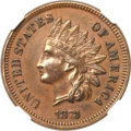 Indian Cents, 1873 1C Doubled LIBERTY, Closed 3 AU50 NGC. Snow-1, FS-101....
