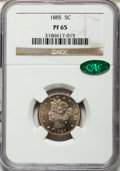 Proof Liberty Nickels, 1885 5C PR65 NGC. CAC....