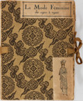 Books:World History, [French Fashion]. La Mode feminine. Group of Three Volumes, Each with Approximately 20 Hand-Colored Plates. [n. ... (Total: 3 Items)