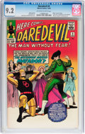 Silver Age (1956-1969):Superhero, Daredevil #5 (Marvel, 1964) CGC NM- 9.2 Off-white to white pages....