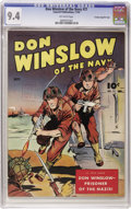 Golden Age (1938-1955):War, Don Winslow of the Navy #21 Crowley Copy/File Copy (Fawcett, 1944)CGC NM 9.4 Off-white pages. Only one other copy on the cu...
