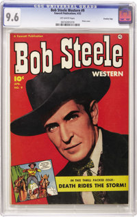 Bob Steele Western #9 Crowley Copy pedigree (Fawcett, 1952) CGC NM+ 9.6 Off-white pages. Photo cover. Overstreet 2006 NM...
