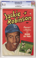 Golden Age (1938-1955):Miscellaneous, Jackie Robinson #5 Crowley Copy pedigree (Fawcett, 1951) CGC VF+ 8.5 Cream to off-white pages. Legendary Dodger Jackie Robin...